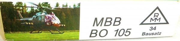 MBB BO 105 Hubschrauber Roskopf 34 NUR DER LEERE KARTON LEERKARTON HQ4 å *