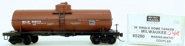 Micro Trains Line 65280 MILW 908310 39' Single Dome Tank Car 1:160 OVP #i041 å