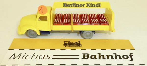 Berliner Kindl Rundhauber Magirus LKW IMU Bier Getränke Replika Serie 1:87 #1 å