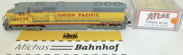 Atlas 49026 SD-60 Union Pacific 6028 Diesellok Decoder Ready OVP N 1:160 #02§ å
