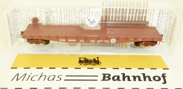 MICRO TRAINS 45160 Western Maryland 2645 Flatcar Fishbelly Side N 1:160 #141L å