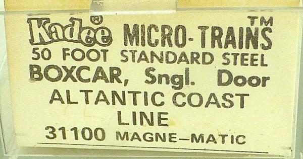 50´ Standard Boxcar ATLANTIC COAST 31598 Micro Trains Line 31100 N 1:160 C å*