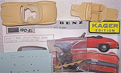 1:43 Provence Moulage Mercedes 190 SL Resin KIT å *