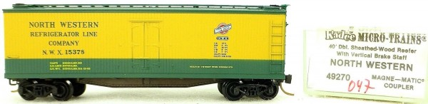Micro Trains Line 49270 North West 15269 40' Wood Reefer 1:160 OVP 046G å *