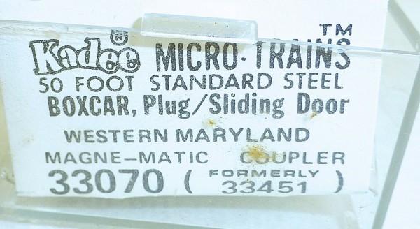 Micro-Trains Line 33070 KADEE Western Maryland 50' Standard Box Car N 1:160 A å*