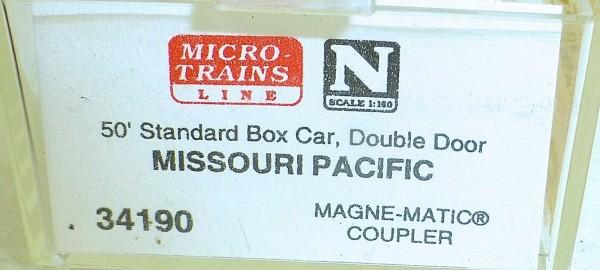 Micro-Trains Line 34190 Missouri Pacific 50' Standard Box Car N 1:160 A å *