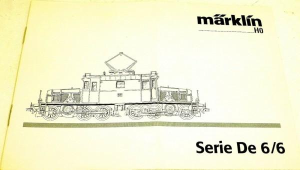 Anleitung Märklin Serie De 6/6 305 787 01 02 na å *