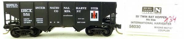 Micro Trains Line 56030 Int Harvester 551 33' Twin Hopper OVP 1:160 #K134 å