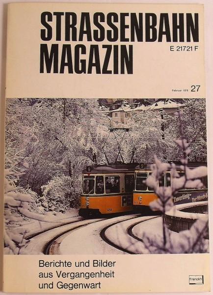 Straßenbahn Magazin Heft 27 Februar 1978, S. 1-80 Franckh'sche Verlagshandlung √