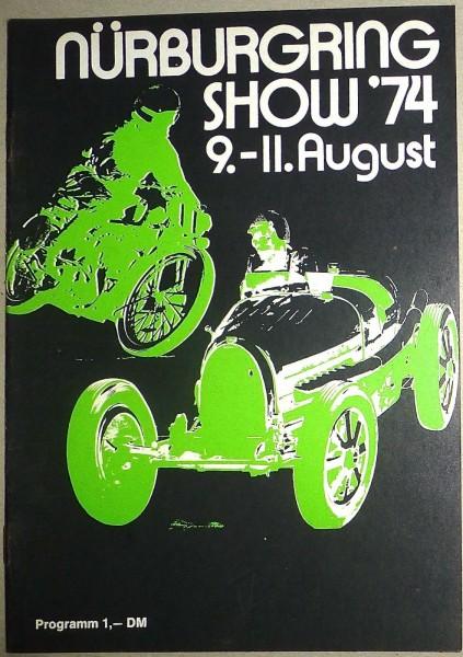 9.-11. August Nürburgring SHOW PROGRAMMHEFT IV11 å *
