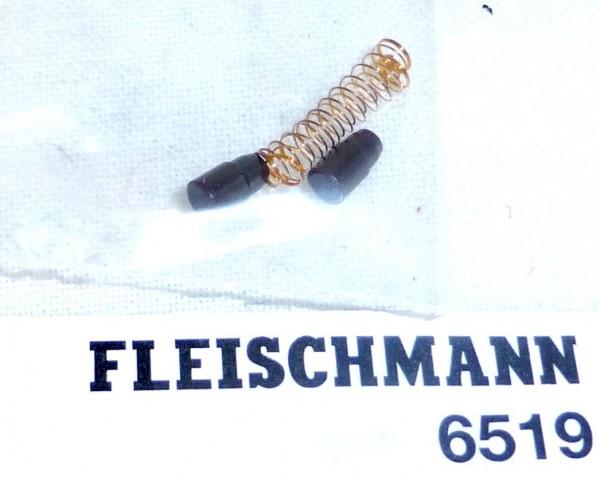 1 Paar Ersatz Schleifkohlen u Federn NEU OVP Fleischmann 6519 H0 Kohlen LF2 µ *