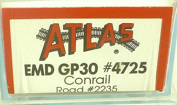 ATLAS 4725 KATO EMD GP30 Conrail 2235 Diesellok N 1:160 OVP ∑ å *
