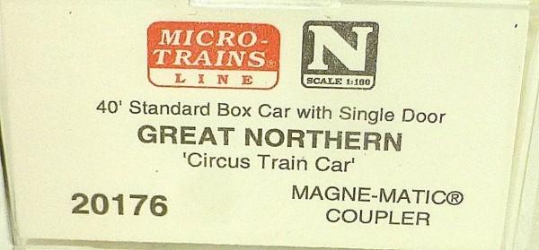 40´ St Boxcar Great Northern 18588 Micro Trains Line 20176 N 1:160 D å *