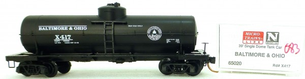 Micro Trains Line 65020 Baltimore Ohio 39' Single Dome Tank Car 1:160 OVP #i083 å