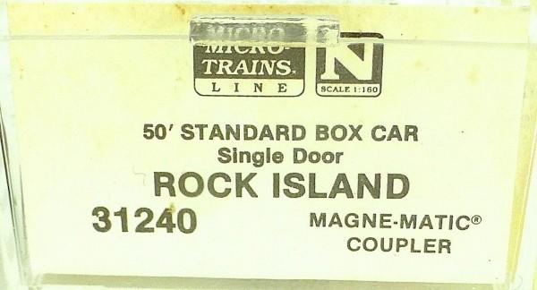 50´ Standard Boxcar ROCK ISLAND 30156 Micro Trains Line 31240 N 1:160 C å*