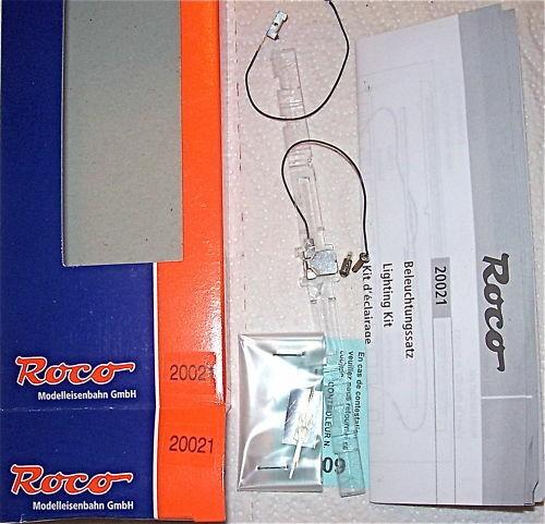 Innenbeleuchtung für 4 achsige Waggons N Fleischmann Roco 20021 NEU 1:160 OVP µ*