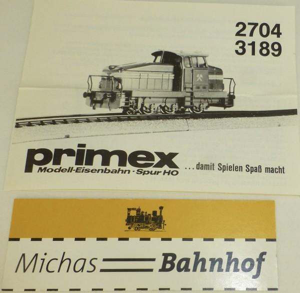 PRIMEX 2704 3189 Märklin Anleitung å