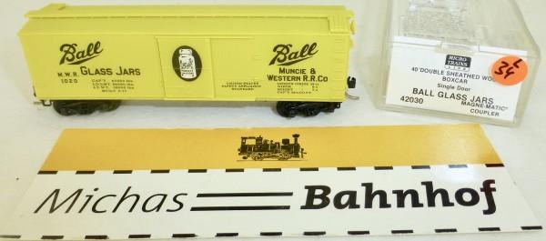 MICRO TRAINS 42030 Ball Glas Jars 1020 40' Sheathed Wood Boxcar N 1:160 OVP #34L å