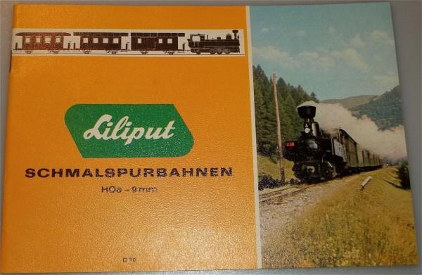 1970 Liliput Schmalspurbahnen Katalog # å