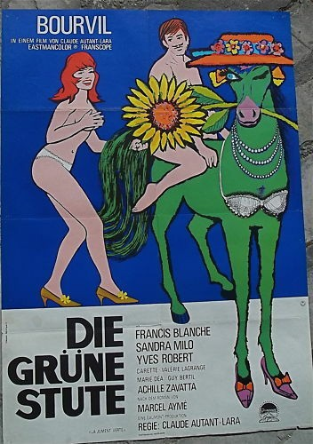 Die Grüne Stute Bourvil Filmplakat