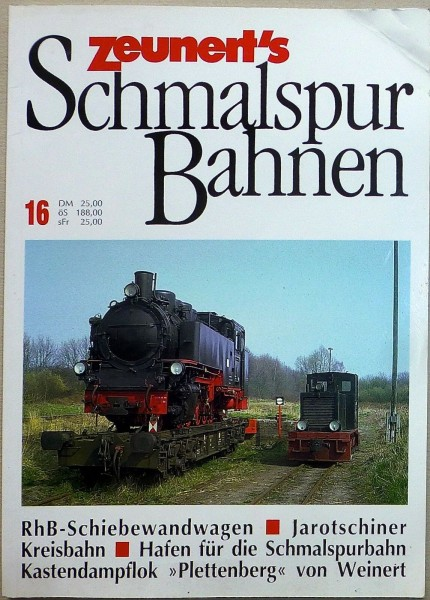 16 Zeunert's Schmalspur Bahnen å *