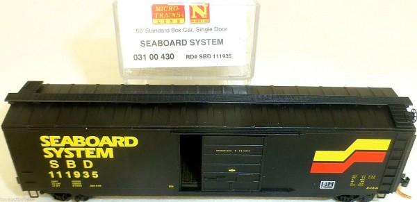 Seaboard System 50 Standard Box Car Single Door MTL 031 00 430 N 1:160 OVP HU3 å