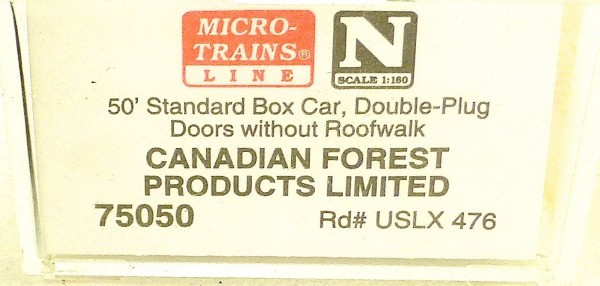 Micro Trains Line 75050 Canadian Forest Products Ltd 50´ Box Car 1:160 OVP #E å*
