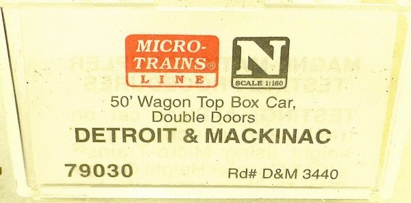 Micro Trains Line 79030 Detroid Mackinac 3440 50´ Box Car 1:160 OVP #E å *