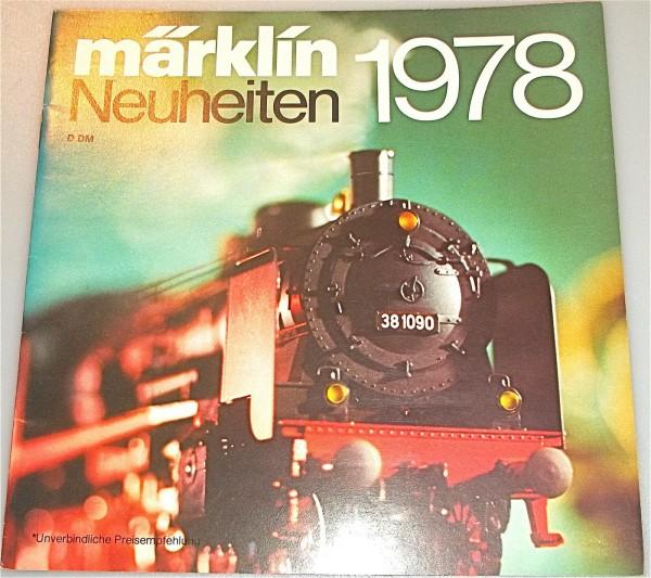 Märklin Neuheiten 1978 å *