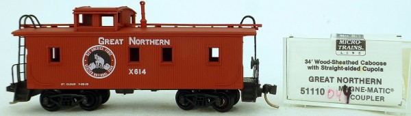 Micro Trains Line 50110 Great Northern x614 34' CABOOSE 1:160 OVP #K044 å