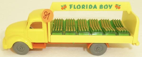 Florida Boy orange Rundhauber Magirus LKW IMU Getränke Replika Serie 1:87 #81 å