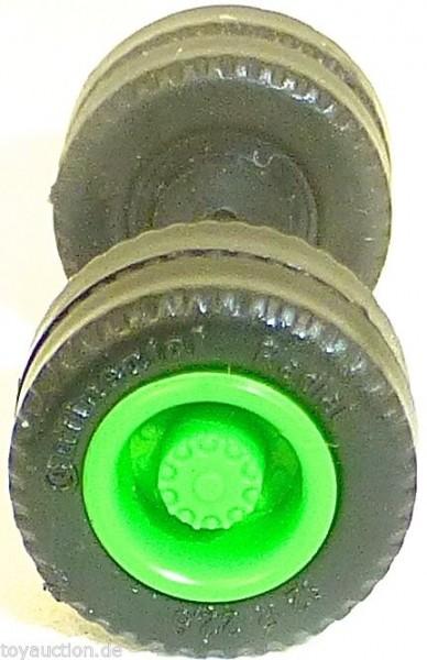 75 x Radsatz 30mm Achsbreite Continental grün Plastik Herpa Albedo 1:87 R66 å