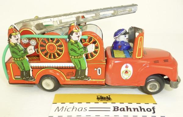 Ne Kur FEUERWEHR LEITERWAGEN Blechspielzeug Tin Toy NK Turk Mali å