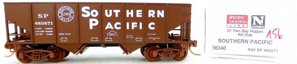 Micro Trains Line 56340 Southern Pac 460671 33' Twin Bay Hopper 1:160 OVP #i156 å