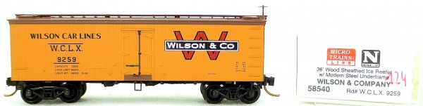 Micro Trains Line 58540 Wilson Co 9259 36' Wood Sheathed Reefer 1:160 OVP #i124 å