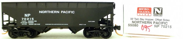 Micro Trains Line 55080 Northern Pacific 70215 33' Twin Hopper OVP 1:160 #K095 å