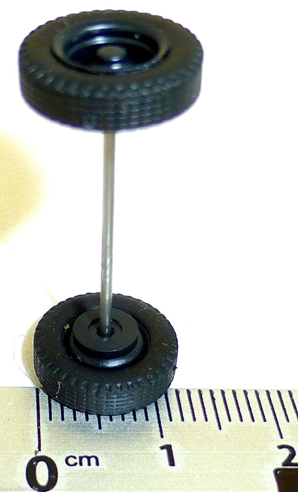 115 x Radsatz 30mm Achsbreite Baumaschinen weiß Plastik Herpa Albedo 1:87 R96  å