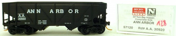 Micro Trains Line 57120 Ann Arbor 30920 33' Twin Bay Hopper 1:160 OVP #i128 å