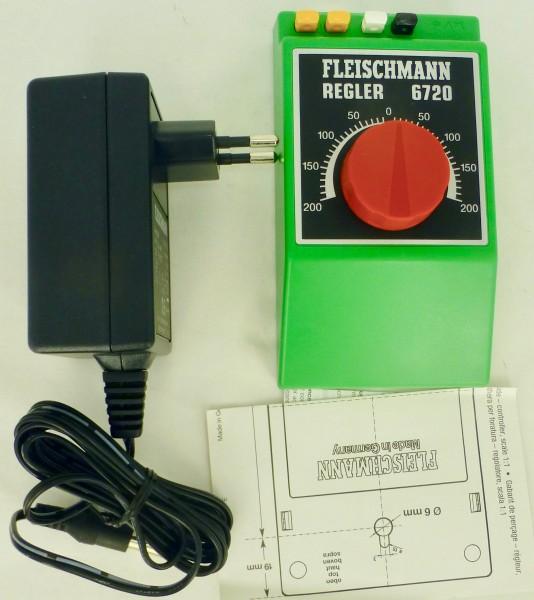 Fleischmann 6720 Trafo Regler mit Netzteil H0 1:87 aus Startsetauflösung KG3 µ