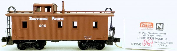 Micro Trains Line 51150 Southern Pacific 605 34' CABOOSE OVP 1:160 #K067 å