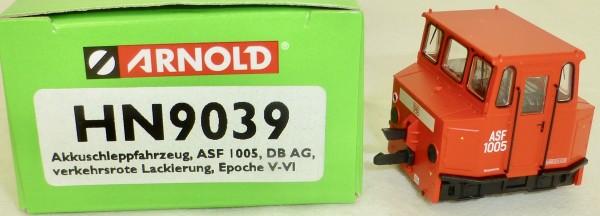 Akku Schleppfahrzeug ASF rot DBAG EpV ARNOLD HN9039 TT 1:120 NEU HQ3 µ