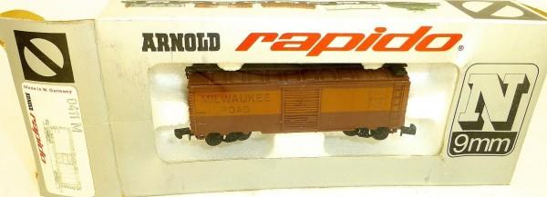 Milwaukee Road Güterwagen braun ARNOLD rapido 0411M N 1:160 OVP HU3 å *