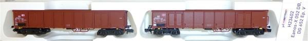 2-tlg.SET Eanos-X 052, DG 625 DB Ep.VI Hobbytrain H23404 1/160 N NEU #HS3µ