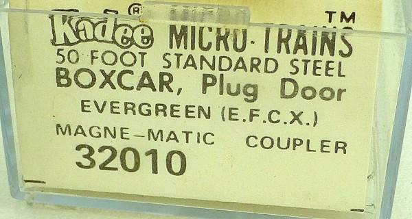 50´ Standard Boxcar EVERGREEN E.F.C.X. Micro Trains Line 32010 N 1:160 C å*