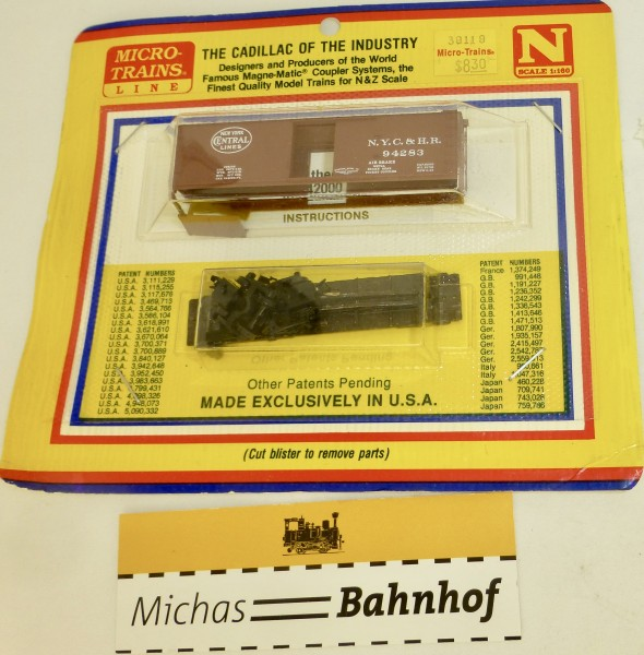 BLISTER KIT N.Y.C.&H.R. 94283 Güterwagen Kit Micro Trains 39119 1:160 HC6 å
