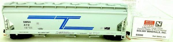 Micro-Trains Line 93090 3-Bay Center Flow SOLVAY MINERALS INC N 1:160 X å*