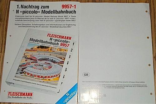 English 1st Extension Text for N Fleischmann 9957 1 NEW HR7 µ *