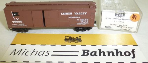 MICRO TRAINS 43050 Lehigh Valley 79006 40' Sheathed Wood Boxcar 1 1/2 N 1:160 #59L å
