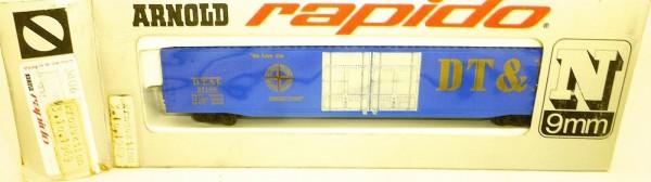 D.T.&I. großer Güterwagen 3.10.1969 ARNOLD rapido 0406 N 1:160 OVP HU3 å *