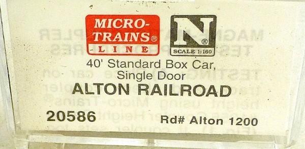 40´ St Boxcar ALTON Railroad 1200 Micro Trains Line 20586 1:160 D å *